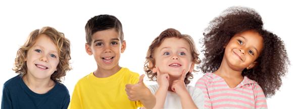 group of PreKindergarten children smiling